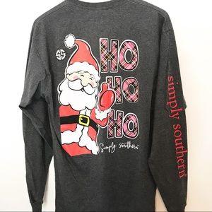 Simply Southern Christmas Ho Ho Ho Shirt Large